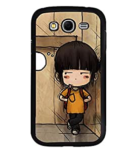 Fuson Premium 2D Back Case Cover Cute baby with bag With blue Background Degined For Samsung Galaxy Grand Neo::Samsung Galaxy Grand Neo i9060