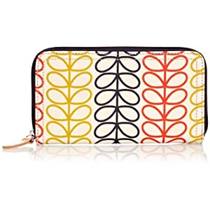 Orla Kiely 14SELIN122 Linear Stem Big Zip Wallet,Primary Multi,One Size