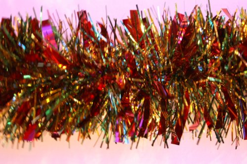 Red/Green/Gold Chunky/Fine Tinsel -4 metre (TI8)