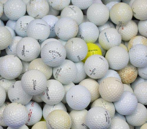 Second Chance Gebrauchte Golfbälle/ Lakeballs, Qualität AA (Grade B), verschiedenen Marken (sortiert), 500Stück