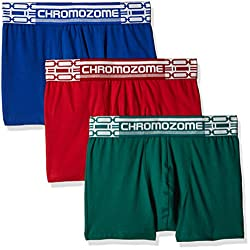 Chromozome Men's Cotton Boxer (Pack of 3) (8902733347228_CR 02_Large_Blue, Red and Green)