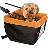 Kurgo Skybox Dog Booster Seat, Black/Orange