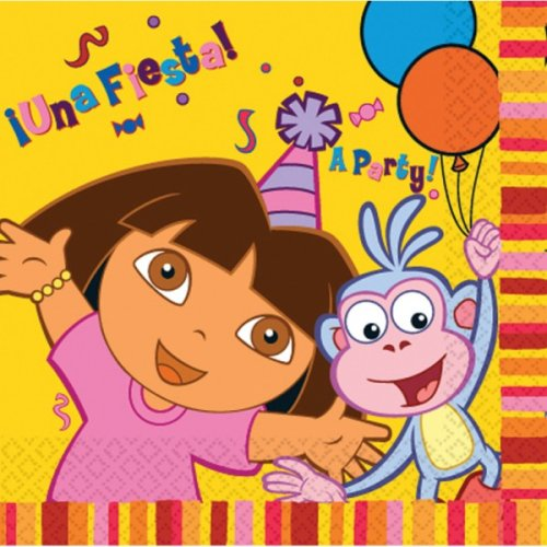 Dora the explorer Party Luncheon napkins, pack of 16,  3 ply