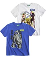 Star Wars-The Clone Wars Doppelpack T-Shirt blau