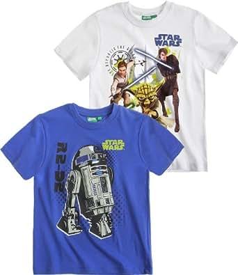 Star Wars-The Clone Wars Doppelpack T-Shirt blau (104)