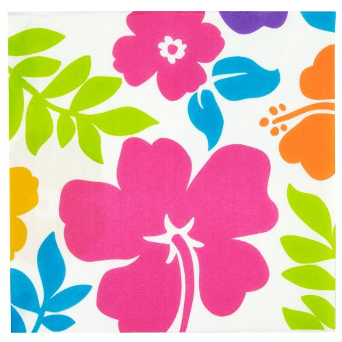 Hibiscus Lunch Napkins, (100 count)