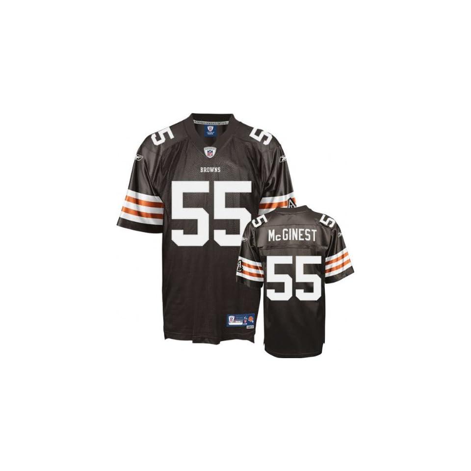 wholesale dealer 0c74c e8eed Willie McGinest Reebok NFL Brown Premier Cleveland Browns ...