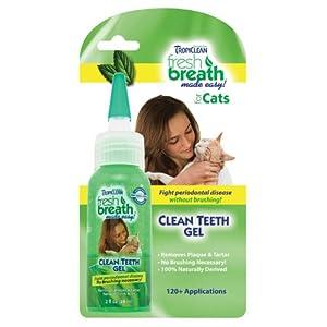 Tropiclean Fresh Breath Clean Teeth Gel For Cats 2 Ounce