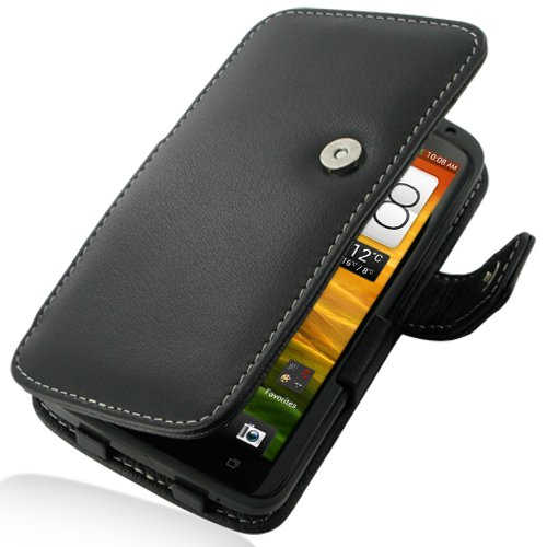 PDair B41 Black Leather Case for HTC One X S720e