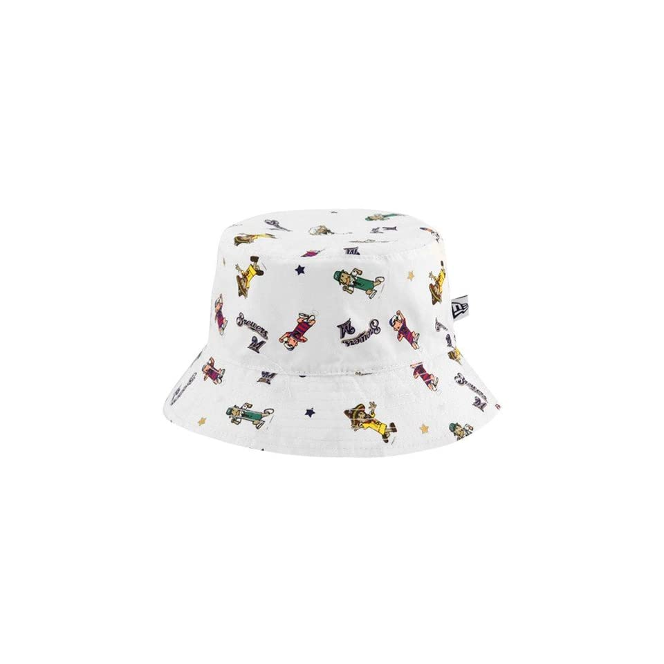 MLB New Era Milwaukee Brewers Infant White Baby Bucket Hat on PopScreen 162f15ea2c8
