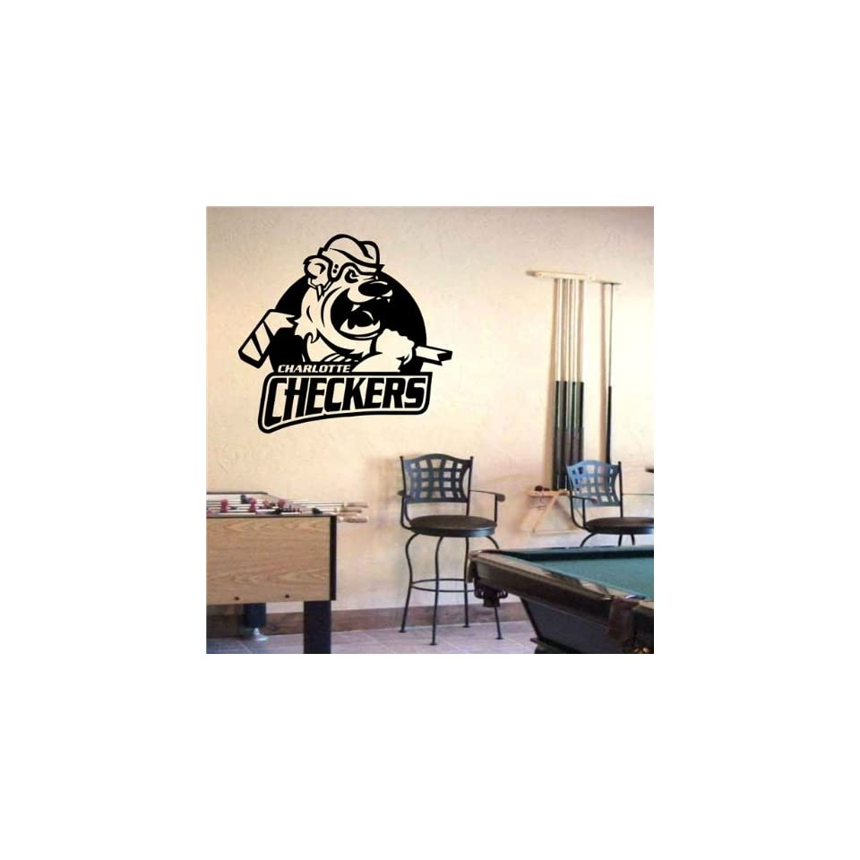 Wall Mural Vinyl Sticker Sports Logos Ahl charlotte Checkers (S450)