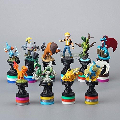 10pcs/set Pokemon Pocket Monster Collection Model Toys PVC Action Figure Dolls