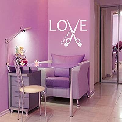 Hair Stylist Salon Wall Quotes Love What You Do Office Wall Decoration Decal