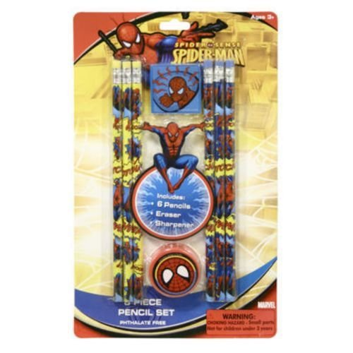 Pencil Pack 8 Piece Spiderman