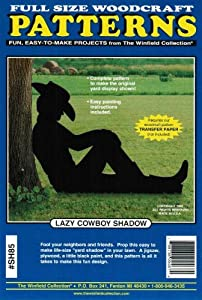 Lazy cowboy shadow yard art woodworking pattern for Yard shadow patterns