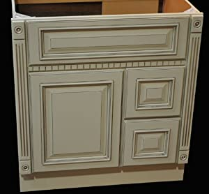 36 Inch All Wood Heritage Ivory / White Oldtown Fluted ...