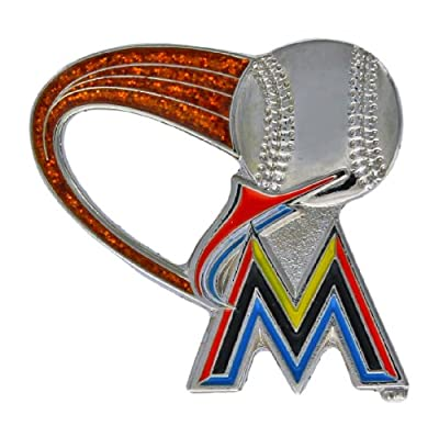 MLB Miami Marlins Glitter Trail Pin