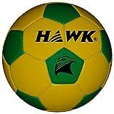 HAWK Unisex Rubber Football 3 Yellow & Green
