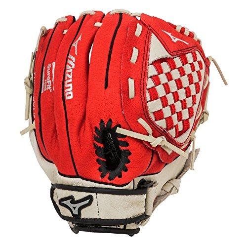 Mizuno Prospect GPP1150Y1RD 11.5 Red Youth Utility Baseball Glove mizuno men s 9 spike franchise 7 mid molded baseball cleat
