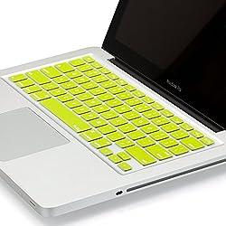 Kuzy - Neon YELLOW Keyboard Cover Silicone Skin for MacBook Pro 13
