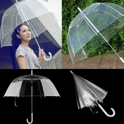 Fashion Transparent Clear Automatic Umbrella Parasol For Wedding Party Favor (Oakley Bracket 8 1 compare prices)