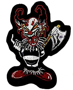 Ecusson / Patch Brode Clown Diable Avec Hache 442304-1012 Airsoft