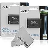 (2 Pack) Vivitar EN-EL23 Ultra High Capacity 2550mAH Li-ion Batteries for NIKON COOLPIX P900, P610, P600, S810c Cameras (Nikon EN-EL23 Replacement) + MagicFiber Microfiber Lens Cleaning Cloth