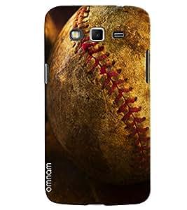 Omnam Cricket Ball Pose Printed Designer Back Cover Case For Samsung Galaxy Grand 2
