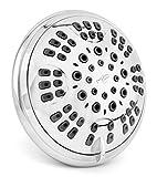 Aqua Elegante 6 Function Luxury Shower Head - Best High Pressure, Wall Mount, Adjustable Showerhead - Chrome