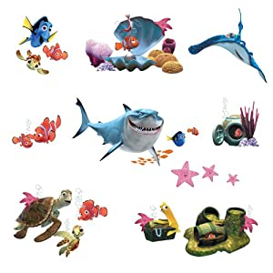 Roommates RMK2059SCS Finding Nemo Peel and Stick Wall Decals by York Wallcoverings