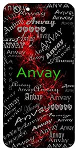 Anvay (Joined; Integration) Name & Sign Printed All over customize & Personalized!! Protective back cover for your Smart Phone : Moto G-4-PLAY