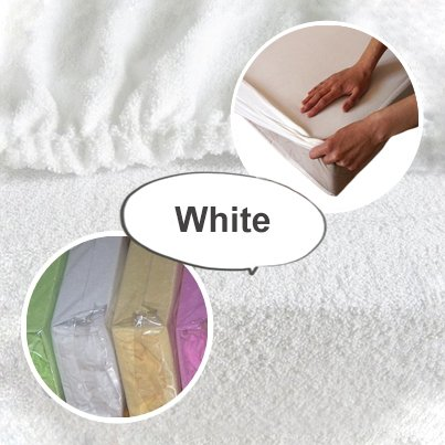 Terry Towelling Fitted Sheet 120 x 60 To Fit Nursery Baby Cot/ Cot bed Bedding Mattress - White