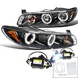 Pontiac Grand Prix Black Halo LED Projector Headlights+6000K HID Conversion Kit