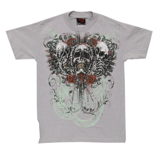 Miami Ink Skulls And Roses Tattoo Tv Show Adult T-Shirt Tee-Small