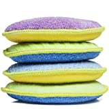 Starfiber Microfiber Kitchen Scrubbies, 4-Pack