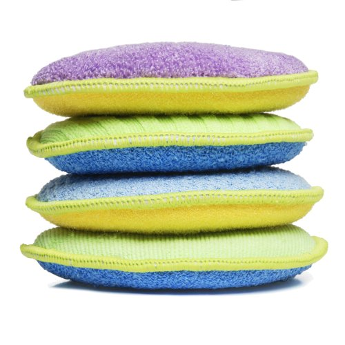 Starfiber Microfiber Kitchen Scrubbies, 4-Pack (Dishwashing Pad compare prices)