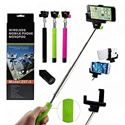 ApeCases® Selfie Monopod with built-in Bluetooth shutter (color may vary )