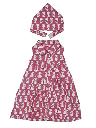 Cat print dress and head scarf Amazoncouk Clothing Head Scarves Fashion Uk