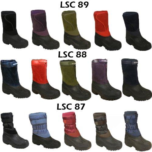 Ladies Womens Girls Winter Fleece Lined Yard Snow Rain Wellington Mucker Boots Size UK 3