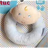 Tuc Tuc Blue Boy. Round Soft Baby Rattle and Teething Toy. Baby Tuc Tuc Collection.