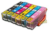 1 Set of High-Capacity Epson Expression Photo Compatible T2431 T2432 T2433 T2434 T2435 & T2436 (T24 XL 'ELEPHANT' Multipack) Ink Cartridges