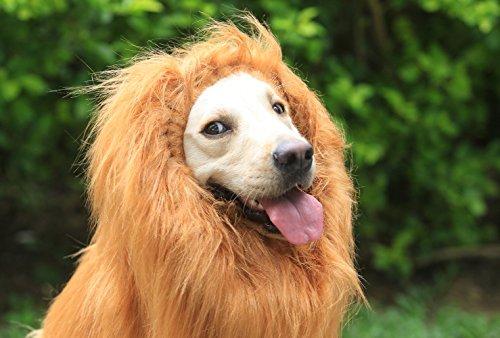 Rocpet Large Pet Dog Costumes Lion Wigs Mane Hair Festival Party Fancy Dress Clothes Christmas