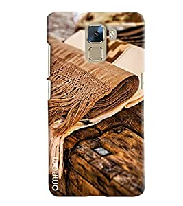 Omnam Woolen Clothes Lying On Wood Art Printed Designer Back Cover Case For Huawei Honor 7