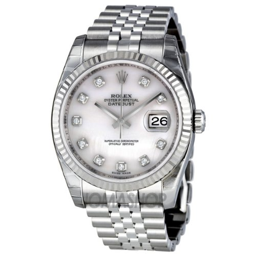 Rolex Datejust Mother of Pearl Dial Automatic Stainless Steel Watch 116234MDJ
