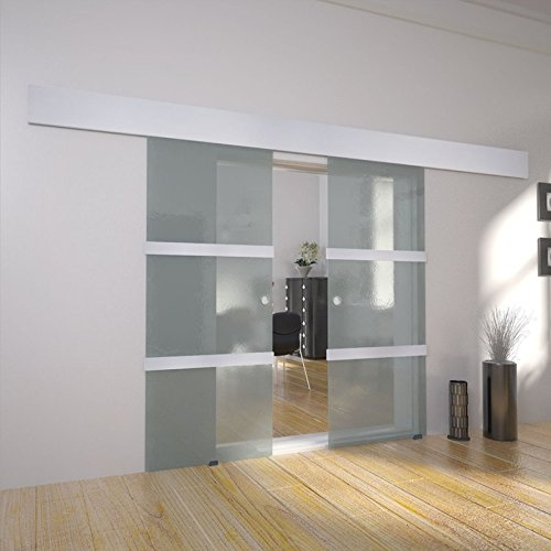 Modern Interior Double Glass Sliding Door System