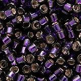 Miyuki Delica Seed Beads 11/0 Silver Lined Dark Purple DB609 7.2 Grams