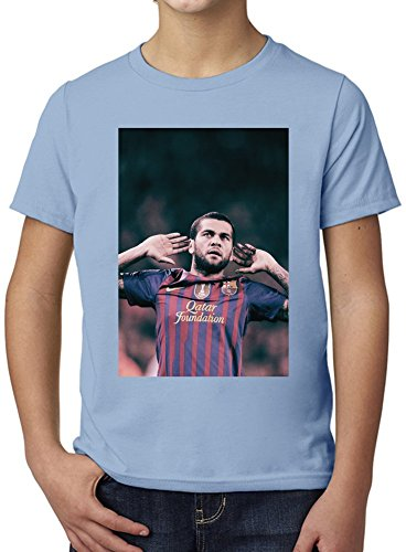 Daniel Alves Da Silva-Wide Ultimate Youth Fashion T-Shirt by True Fans Apparel - 100% Organic, Hypoallergenic Cotton- Casual Wear- Unisex Design - Soft Material 7-8 years