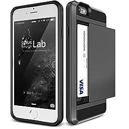 iPhone 6S Plus Case, Verus [Damda Slide][Dark Silver] - [Wallet Card Slot][Heavy Duty] For Apple iPhone 6 6S Plus 5.5
