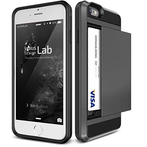 iphone 6s case verus damda slide dark silver wallet. Black Bedroom Furniture Sets. Home Design Ideas