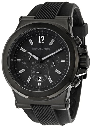 Michael Kors Men's Black Silicone Strap Quartz Chronograph MK8152